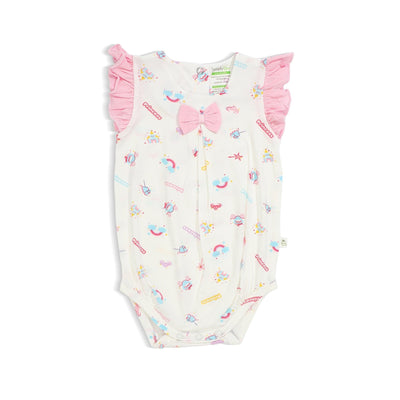 Princess - Romper with Frilled-sleeves and Bow by simplylifebaby