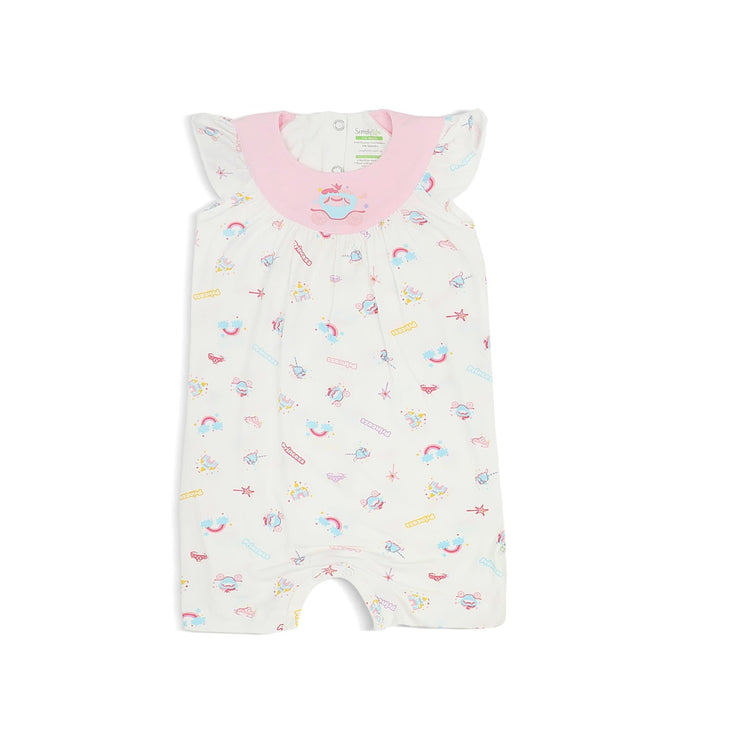 Princess - Shortall with Frilled Sleeves and Spot Print by simplylifebaby