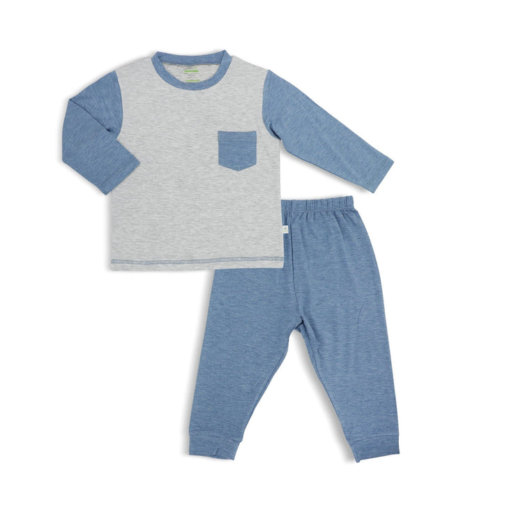 Pyjamas Set (Sandwashed Grey and Blue) by simplylifebaby