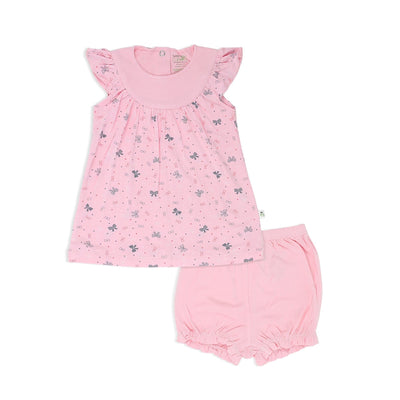 Ribbons - Blouse with cap-sleeves & bloomer shorts (2pc Set) - Simply Life