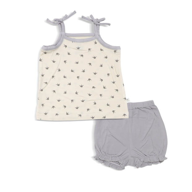 Royale - Blouse with Spaghetti Tie & Bloomer Shorts (2-pc Set) by simplylifebaby