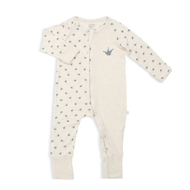 Royale - Long-sleeved Zipper Sleepsuit with Folded Mittens & Footie by simplylifebaby