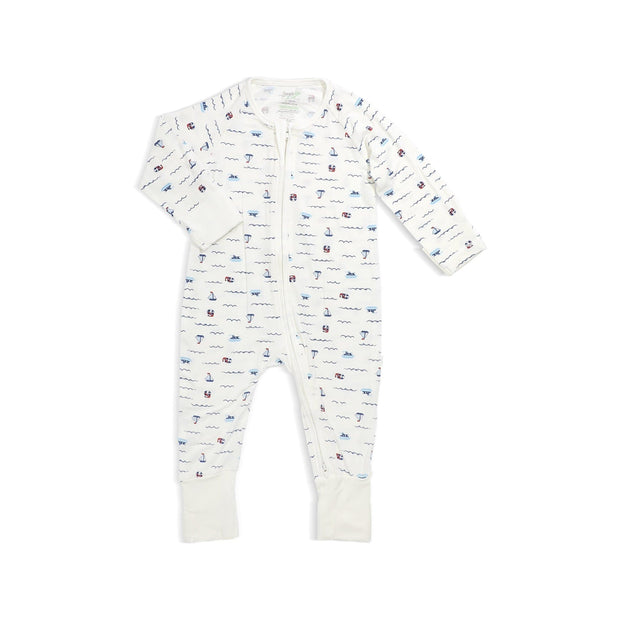 Sailing - Long-sleeved Zipper Sleepsuit by simplylifebaby