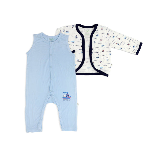 Sailing - Sleepsuit with Cardigan (2-pc Set) by simplylifebaby