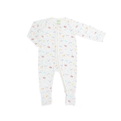Sea Creatures - Long-sleeved Zipper Sleepsuit by simplylifebaby