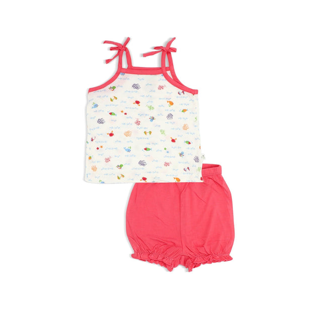 Sea World - Blouse with Spaghetti Tie & Bloomer Shorts Set by simplylifebaby