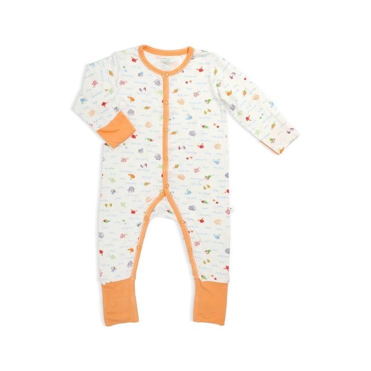 Sea World - Long-sleeved Button Sleepsuit with Folded Mittens & Footie by simplylifebaby
