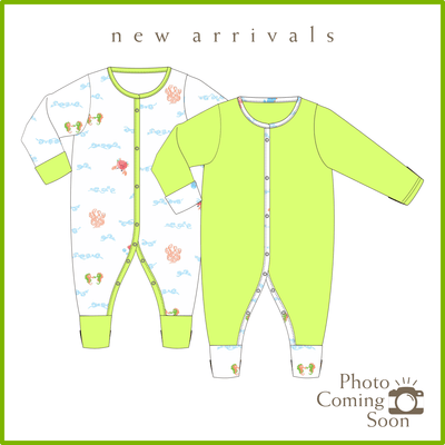 Sea World - Long-sleeved Button Sleepsuit with Folded Mittens & Footie (Value Pack of 2) by simplylifebaby