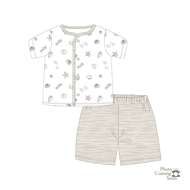 Seashells - Short sleeved button vest with shorts - Simply Life