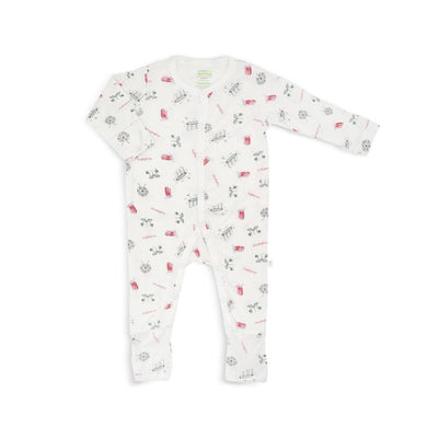 Singapore Special - Long-sleeved Button Sleepsuit with Folded Mittens & Footie by simplylifebaby