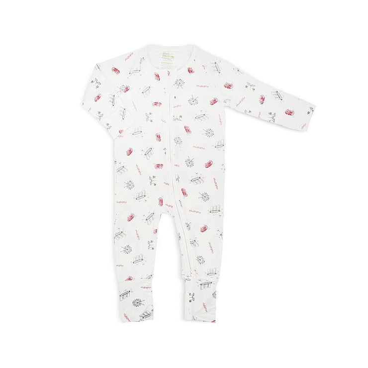 Singapore Special - Long-sleeved Zipper Sleepsuit with Folded Mittens & Footie by simplylifebaby