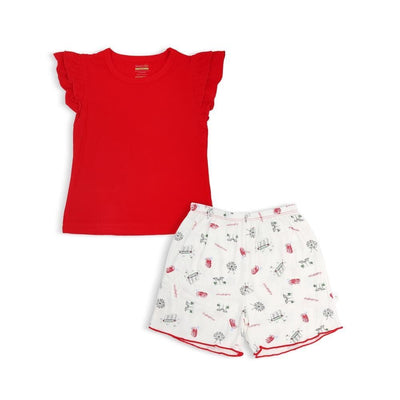 Singapore Special - Shorts & with Frills & Cap Sleeved Tee Set by simplylifebaby