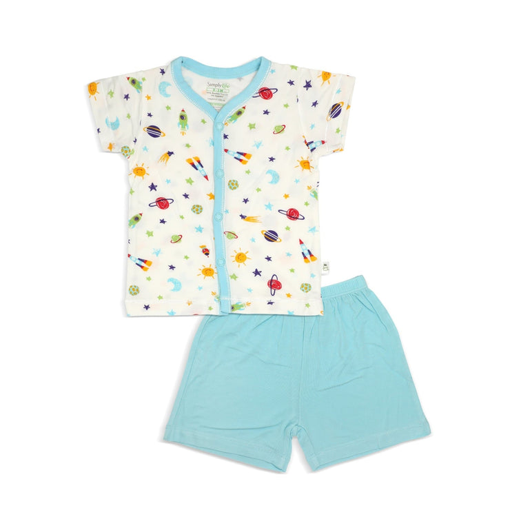 Spaceships - Shorts & Short-sleeved Vest by simplylifebaby