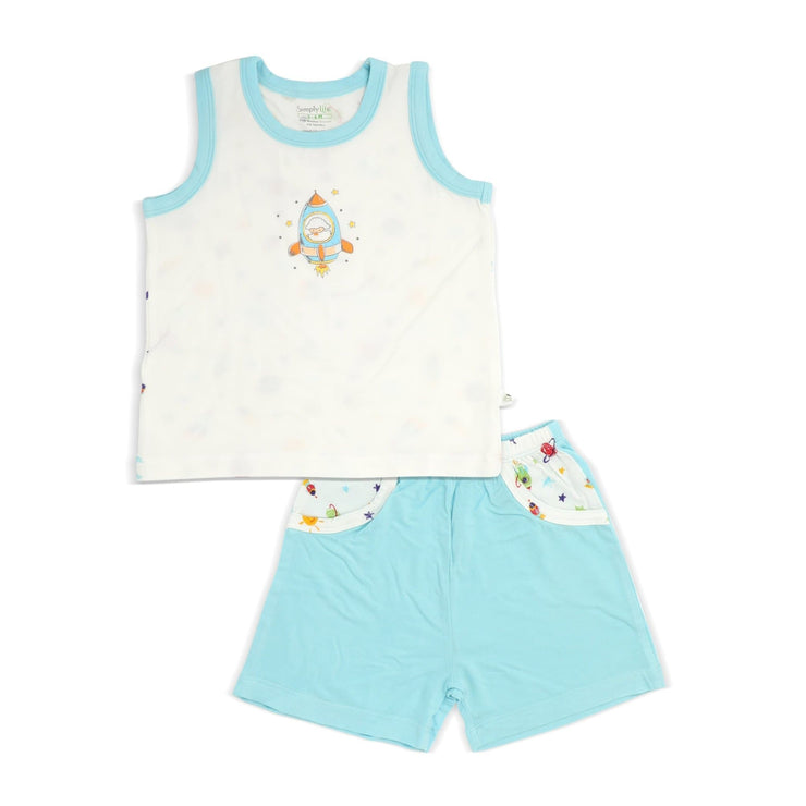 Spaceships - Shorts & Singlet Set by simplylifebaby