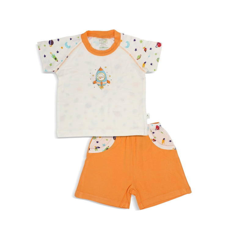 Spaceships - Shorts & Tee Set by simplylifebaby