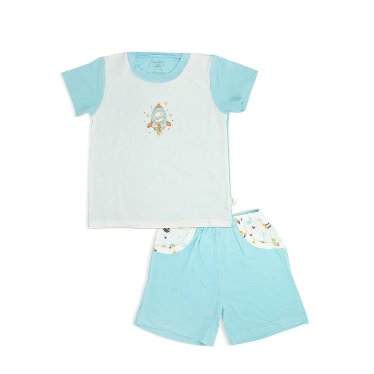 Spaceships - Shorts & Tee Set with Spot Print by simplylifebaby