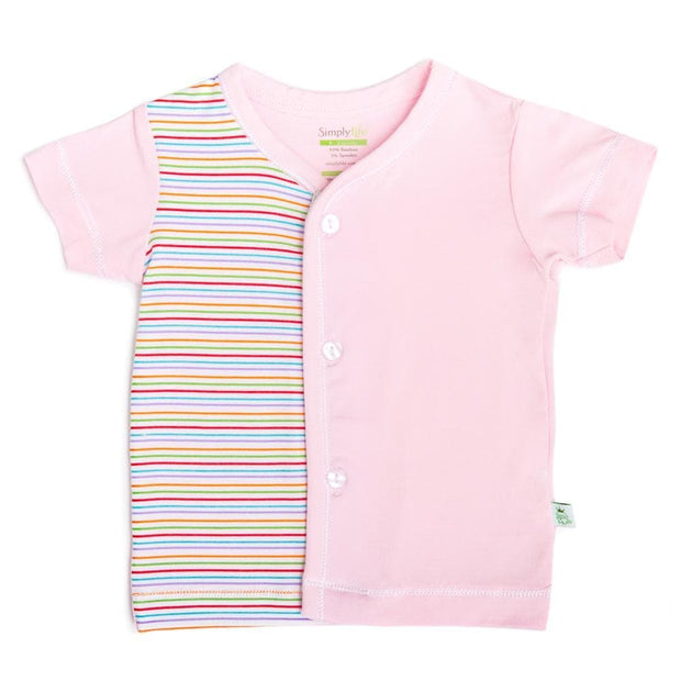 Stripes (Pink) - Short-sleeved Button Front Vest by simplylifebaby