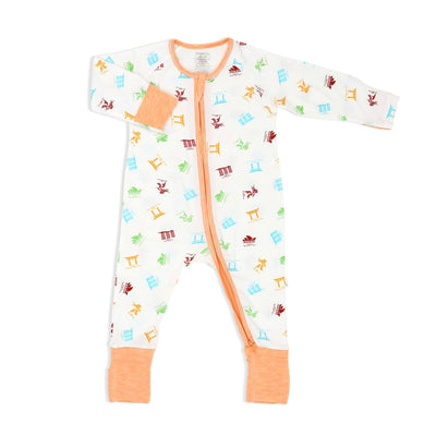 Travel - Long-sleeved Zipper Sleepsuit with Folded Mittens & Footie - Simply Life