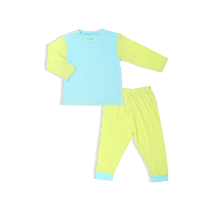 Turquoise / Lime - Pyjamas Set by simplylifebaby