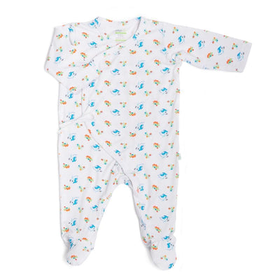 Under the Sea - Long-sleeved Kimono Sleepsuit with Footie by simplylifebaby