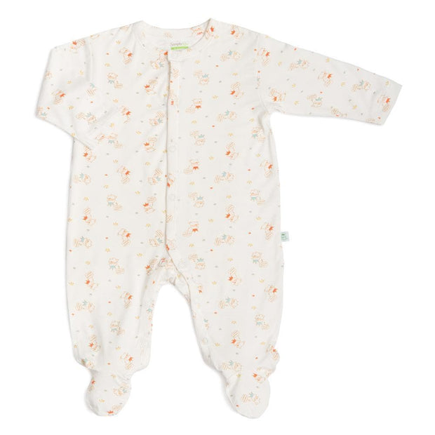 Value Pack - Short-sleeved Envelope Romper / Long-Sleeved Sleepsuit with Covered Footie & Front Buttons Set (CL) - Simply Life