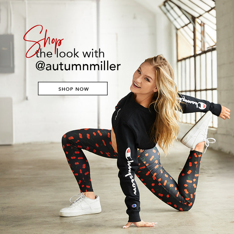 Shop the look with @autumnmiller - Model is wearing the Presley bralette & London legging Black Cherry.