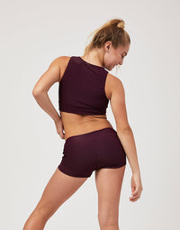 Child Bailey Short in Eggplant Rib - back view