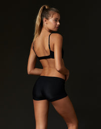 Adult Bailey Short in Black Rib - back view