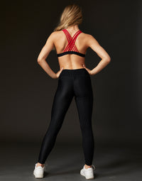 Adult London Legging in Black Rib - alternate back view