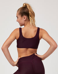 Child Presley Bralette in Eggplant Rib - back view
