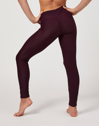 Child London Legging in Eggplant Rib - back detail view