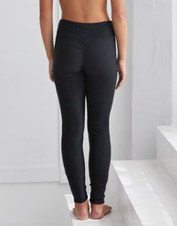 Child London Legging in Black Rib - back view