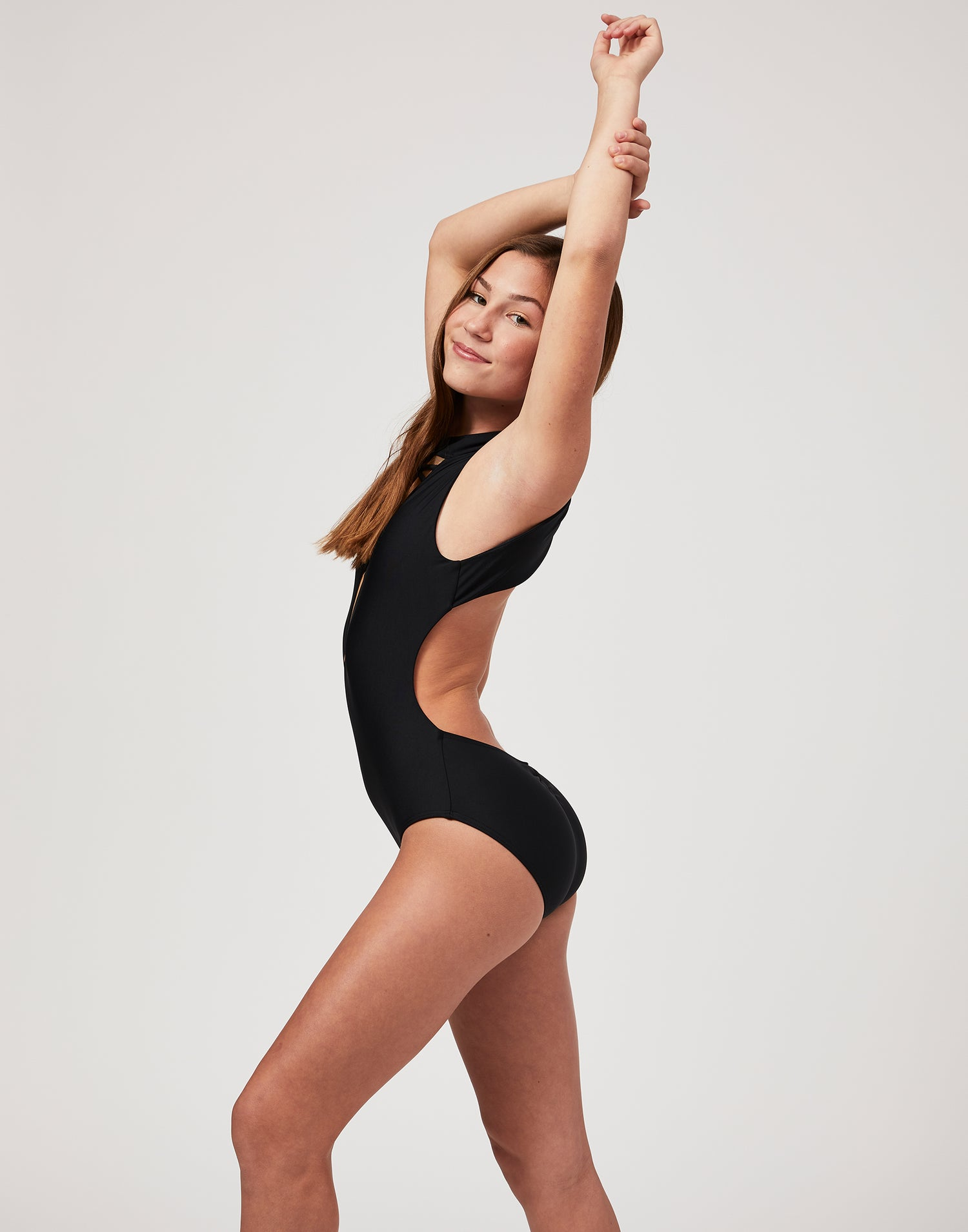 Child Taylor Leotard in Black - alternate side view
