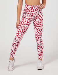 Child London Legging in Hearts - front detail view