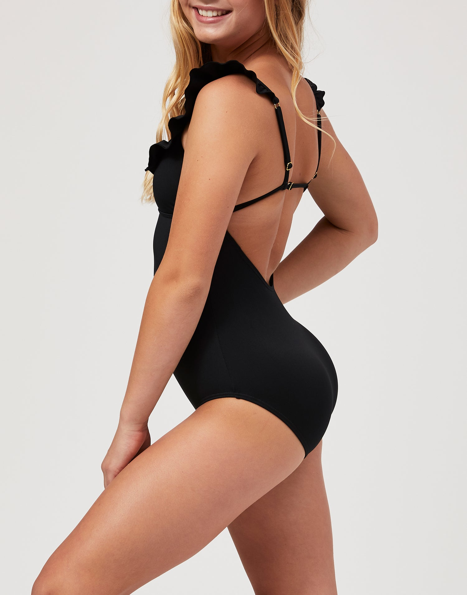 Adult Ireland Leotard in Black - side view