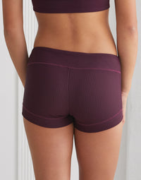 Adult Bailey Short n Eggplant Rib - back view