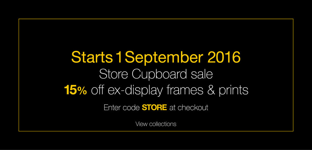 Store Cupboard Sale: Ex Display Frames + More