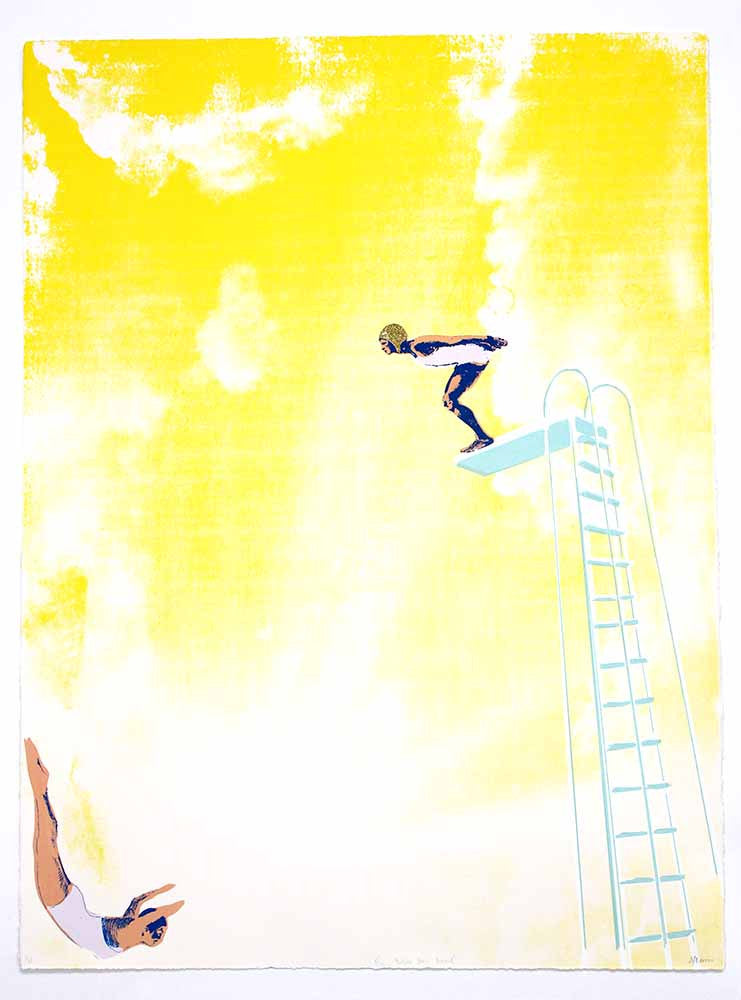 New Anna Marrow Diving Board print