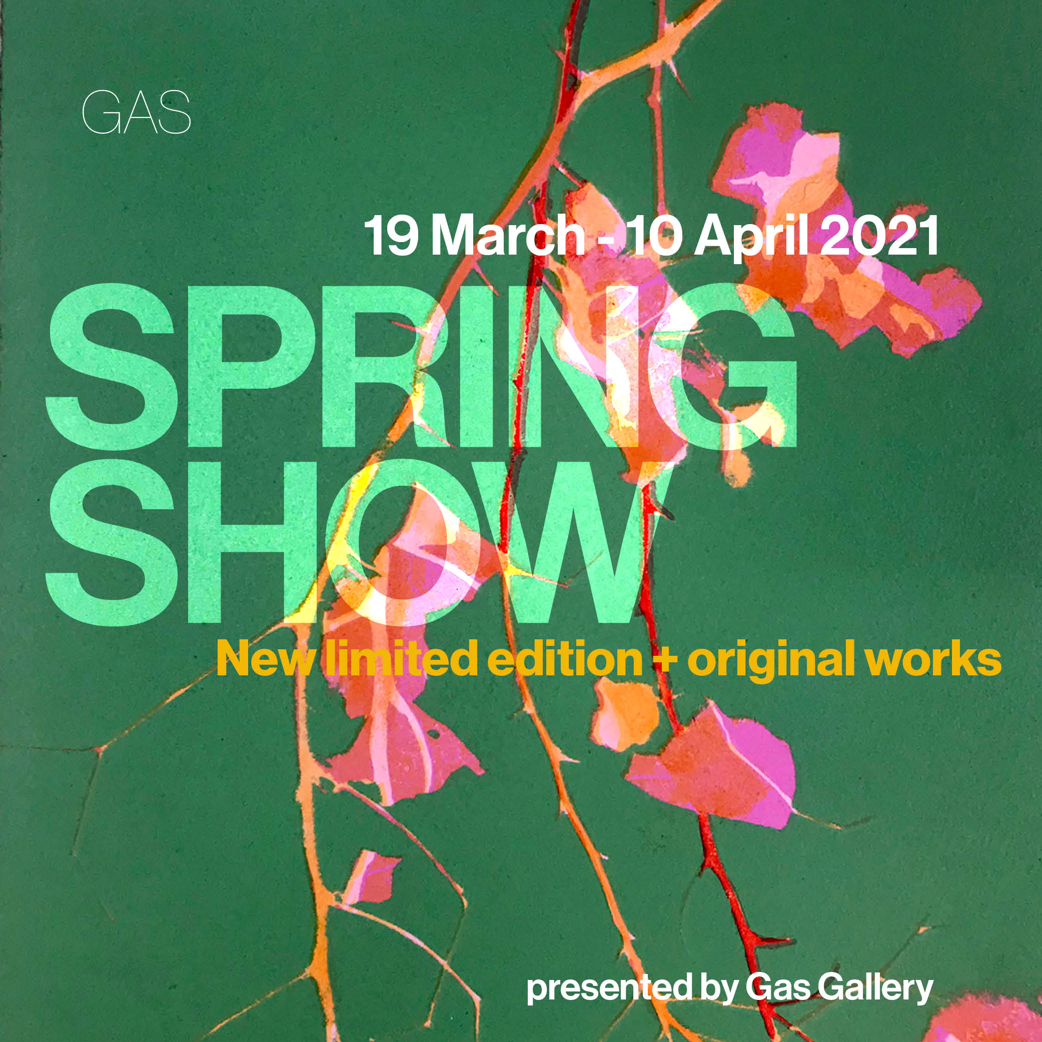 Spring Show at Gas Gallery. Prints and Originals.