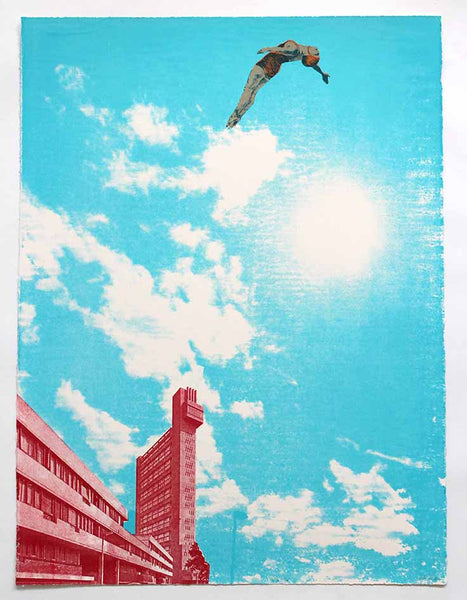 Trellick Tower : Look up by Anna Marrow Prints