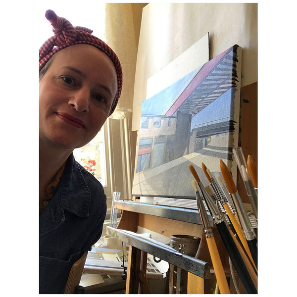 marie Lenclos in her studio by Gas Gallery