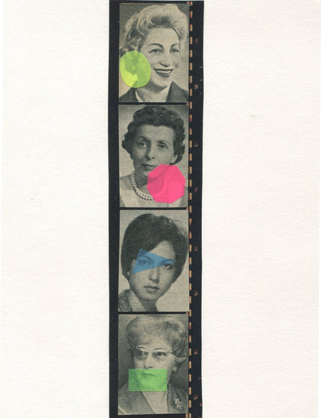 Vesna Vrdoljak -Four Women - Original Collage