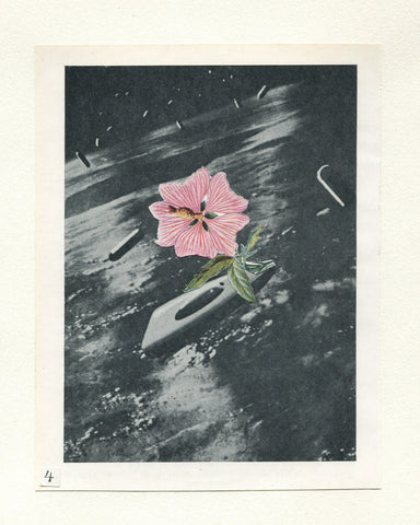 Vesna Vrdoljak -Flower in Space #4- Original Collage