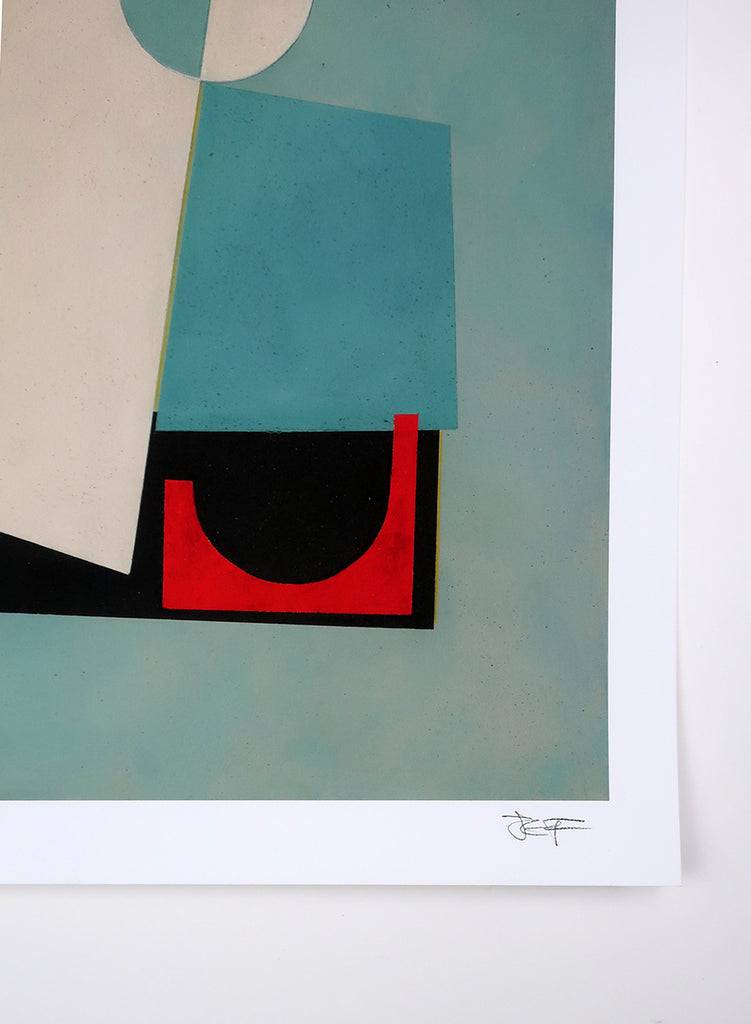 Jane Fredericks -  Composition in Blue + Red