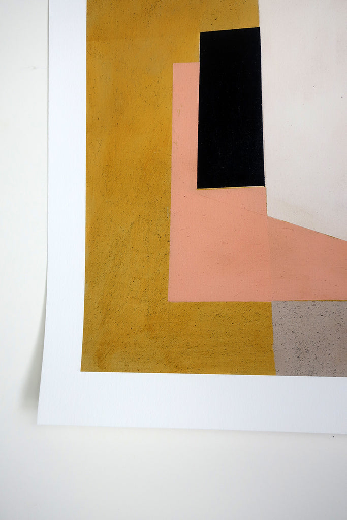 Jane Fredericks -  Composition in Yellow + Pink