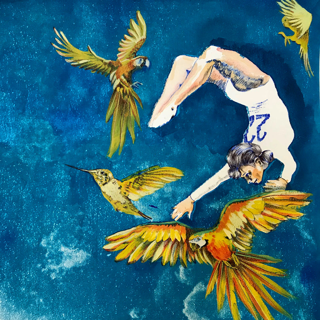Iris Goddess of Birds and Sky by Anna Marrow