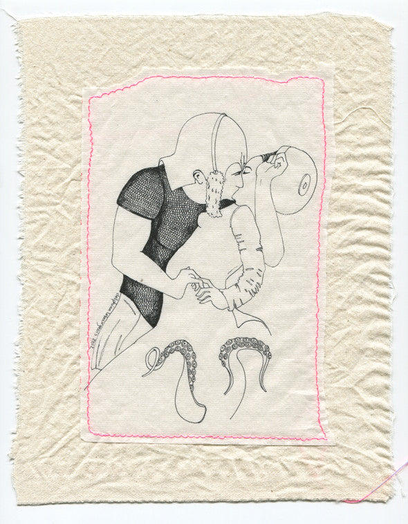 Delphine Lebourgeois Drawing: Little Kiss 1