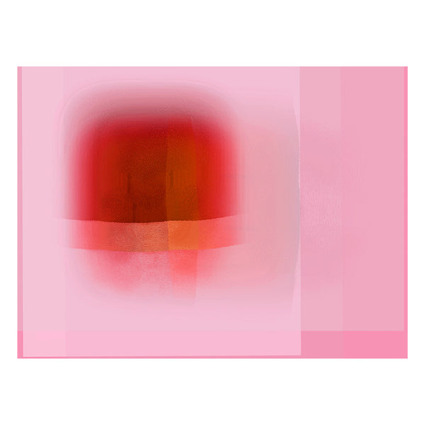 Christine Wilkinson - Pixels Escaping Orange + Pink Edge