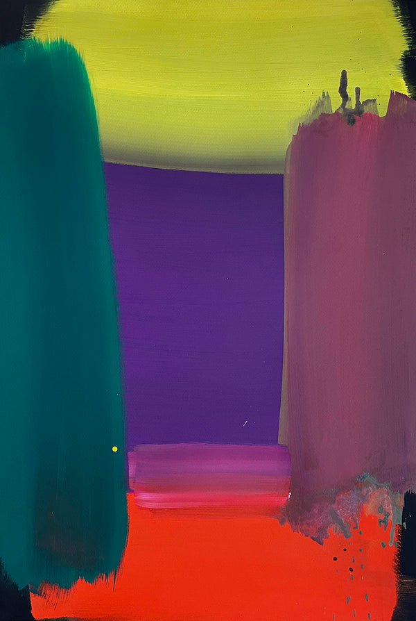 Ptolemy Mann - Thresholds (violet centre) 51 x 76cm 2021