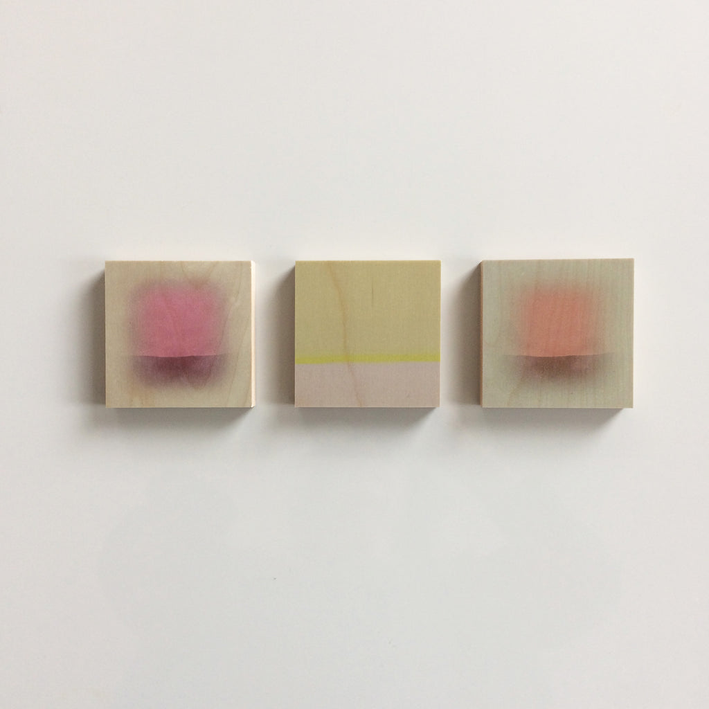 Sets of 3 Abstracts on Wood  - Christine Wilkinson